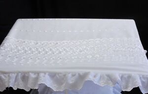 Baby Pram Canopy  to fit Silver Cross pram in white  Broderie Anglaise