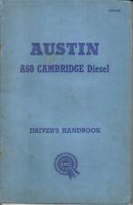 Austin A60 Cambridge Diesel Saloon original Handbook 1962 Pub. No. AKD 3382