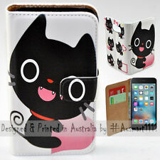 Wallet Phone Case Flip Cover ONLY for iPhone 6 Plus / 6S Plus - Cute Black Cat