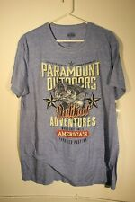 """PARAMOUNT OUTDOORS - BLUE T-SHIRT - """"WHERE CAST TIME IS..."""" - ADULT SIZE LARGE"""