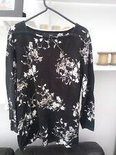 Ladies BNWOT Very Trendy Dark Grey Floral Jumper by Next Size 12