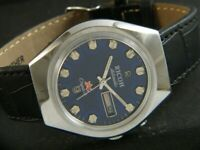 VINTAGE RICOH CRYSTAL R31 AUTOMATIC JAPAN MEN'S DAY/DATE WATCH 404i-a203560-7