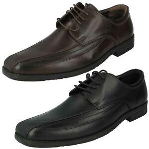 Hommes Malvern Lacets Bout Carré Habillé Bureau Travail Noir Marron Shoes A2R103