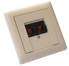UP Lautsprecher-Anschlussdose mit Gira System 55 reinweiß glänzend Abdeckung