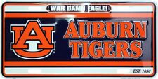 AUBURN TIGERS CAR TRUCK TAG LICENSE PLATE WAR DAMN EAGLE SIGN UNIVERSITY