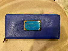 NWT MARC by MARC JACOBS Classic Q Zip Continental Wallet Blue Color Block $198