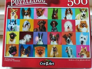 New 500 Piece Jigsaw Puzzle (20 Happy Dog Collage)