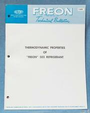 Vintage DuPont Thermodynamic Properties of Freon 503 Bulletin Catalog 1968 dq