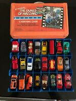 1981 ERTL THE DUKES OF HAZZARD CARRYING CASE-HOLDS 24 1/64 WITH VINTAGE 24 CARS
