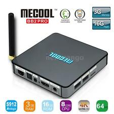 MECOOL BB2 PRO S912 Octa Core 3G DDR4 16G Android 6.0 TV Box 1000M WiFi 4K Media