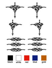 scroll decorative swirl sticker decal set of  10 for truck horse float ute vinyl
