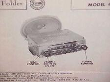 1954 FORD COURIER CUSTOMLINE CRESTLINE CONVERTIBLE AM RADIO SERVICE MANUAL 54 1