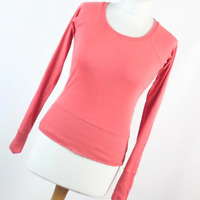 H&M Womens Size 8 Orange Plain Cotton Basic Tee