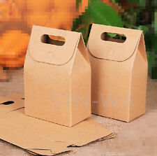 20x Kraft paper flat bottom gift bags wedding birthday party favours lolly bags