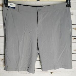 NWT Izod Golf Swing Flex Mens Shorts Stretch Waistband Pocket Gray Slim Fit 42