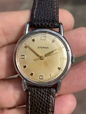 1940s Vintage Eterna Hand-winding Radium Dial Mens Watch 32mm
