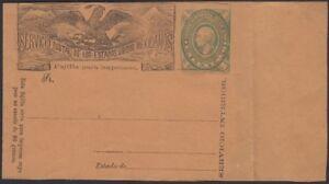MEXICO, 1886. Wrapper H&G E3a, Mint
