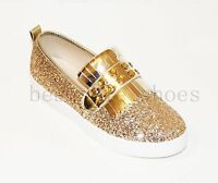 WOMENS LADIES GLLITER PULL ON FLATS LOAFERS TRAINERS PLIMSOLLS PUMPS SHOES SIZE