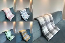 Kuscheldecke Wohnen Sofa Couch Mikrofaser kariert grau braun grün blau rosa