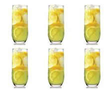 Lav Sude Highball Drinking Glasses Set. Pack of 6 Water Juice Tableware Glass.