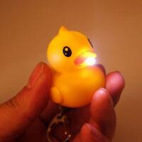 Duck LED Keychain with Sound Key Holder Portable Mini Torch Flashlight Kids Toy