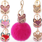 Rabbit Fur Ball PomPom Soft Cute Cell Phone Car Pendant Handbag Key Ring Chain