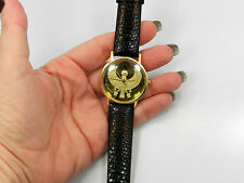 Franklin Mint Egyptian Golden Falcon Watch in 18K Yellow Gold Swiss Rare