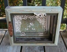 Window SHADOW BOX Wood*Galvanized Tile*Primitive/French Country Farmhouse Decor