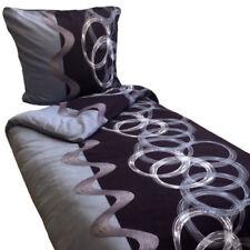 Bettwäschegarnituren mit Kreisen und Fleece