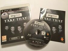 PS3 PLAYSTATION 3 GAME SINGSTAR TAKE THAT +BOX INSTRUCTION COMPLETE DISC VGC PAL