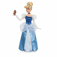 Disney Store Princess Cinderella Classic Doll w/ Gus Girls Poseable Figure Toy