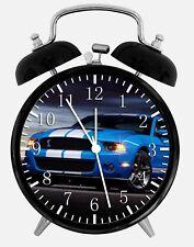 "Mustang GT Cobra Alarm Desk Clock 3.75"" Home or Office Decor W179 Nice For Gift"