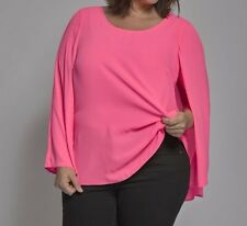 Damen Double Layer Tunika, Farbe pink, Größe 48