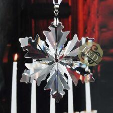 Clear Maple Leaf Crystal Glass Star Little Snowflake Ornament Wedding Xmas Gift