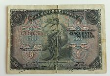Billete de España 50 Pesetas Septiembre 1906 BC+ | Spanish Banknote