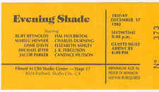 Original TV Taping Ticket: EVENING SHADE - Burt Reynolds, Michael Jeter - 1993