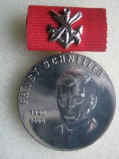 East German Ernst Schneller Medal Silver Award