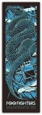 FOO FIGHTERS CONCERT POSTER LIMITED EDITION SCREEN PRINT BLUE SNAKE KEN TAYLOR