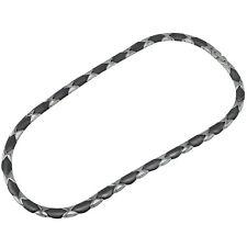 Collier Halskette Damenkette Herrenkette aus solidem Edelstahl Keramik    AB3035
