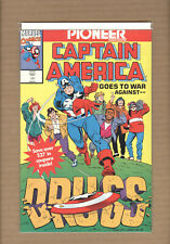 Captain America War Against Drugs #1 1992 Promo Pioneer Variant Marvel Comiocs