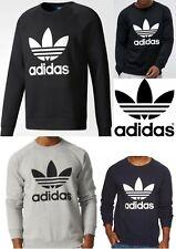 Adidas Original Men's Trefoil Fleece Crew Neck Sweatshirt (OD6).