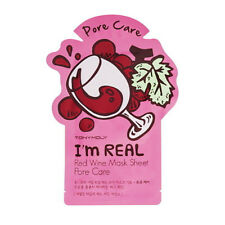 TonyMoly  I'm Real Mask Sheet Red Wine Pore Care  21ml  1pc Korea Cosmetic