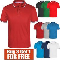 Men's Polo Shirt Dri-Fit Golf Sports Cotton T Shirt Jersey Short Sleeve S M L XL