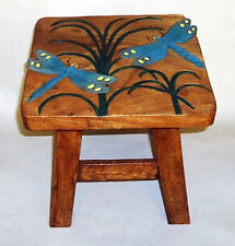 Footstools - Dragonfly Wooden Footstool - Dragonfly Foot Stool