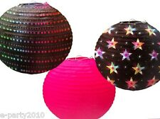 BLACK AND PINK DISCO PAPER LANTERNS (3) ~ Birthday Party Supplies Decorations
