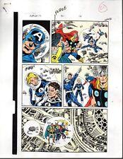 1980's Avengers 301 Marvel color guide art: Fantastic Four/Thor/Captain America
