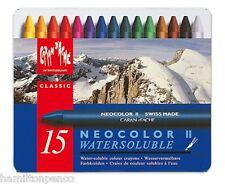 Caran D'ACHE Neocolor II Boîte de 15 pastels cire solubles dans l'eau