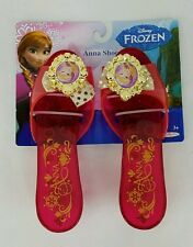 Disney Frozen Girls Anna Sparkle Slippers Shoes Pink 3+