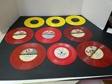 Lot of 9 Vintage Childrens Records 45 RPM Capt. Kangaroo Cinderella & More