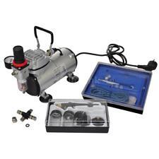 Compressore Aerografo 2 Pistole Filtro Manometro Fusibili Kit Airbrush Nuovo